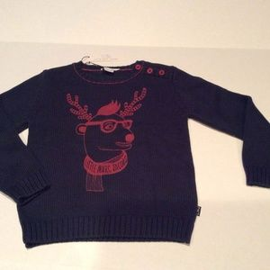 LITTLE MARC JACOBS Blue Knitted Soft Cotton Sweate